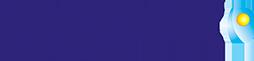 Logo de lactovit en azul y transparente