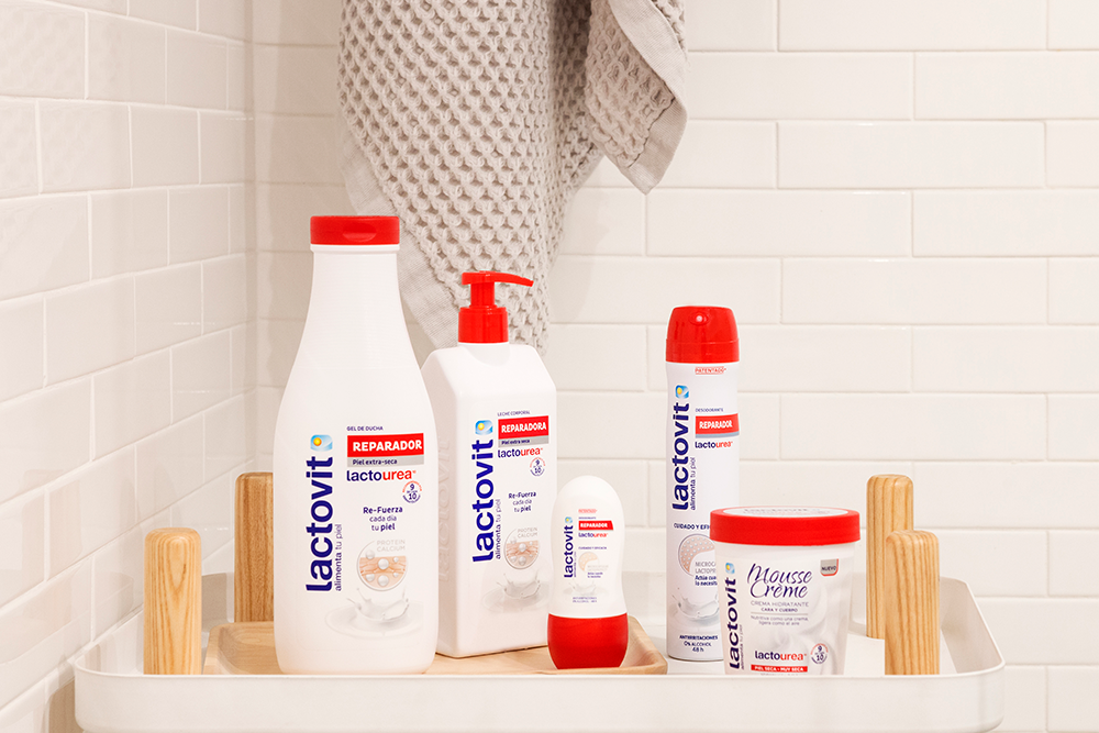 gama de productos con lactourea para pieles secas