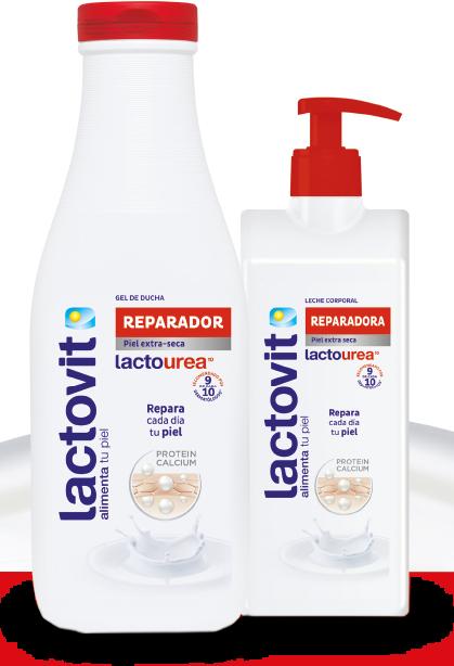 gel de ducha y leche corporal lactourea