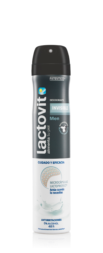 Desodorante spray invisible hombre