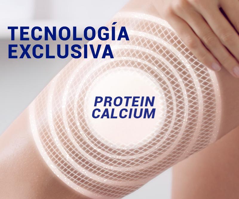 tecnología exclusiva de lactovit, refuerza tu piel con proteína y calcio